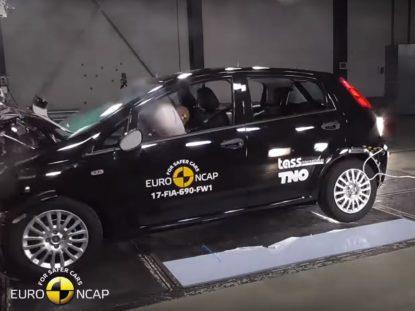 Fiat Punto w testach zderzeniowych Euro NCAP