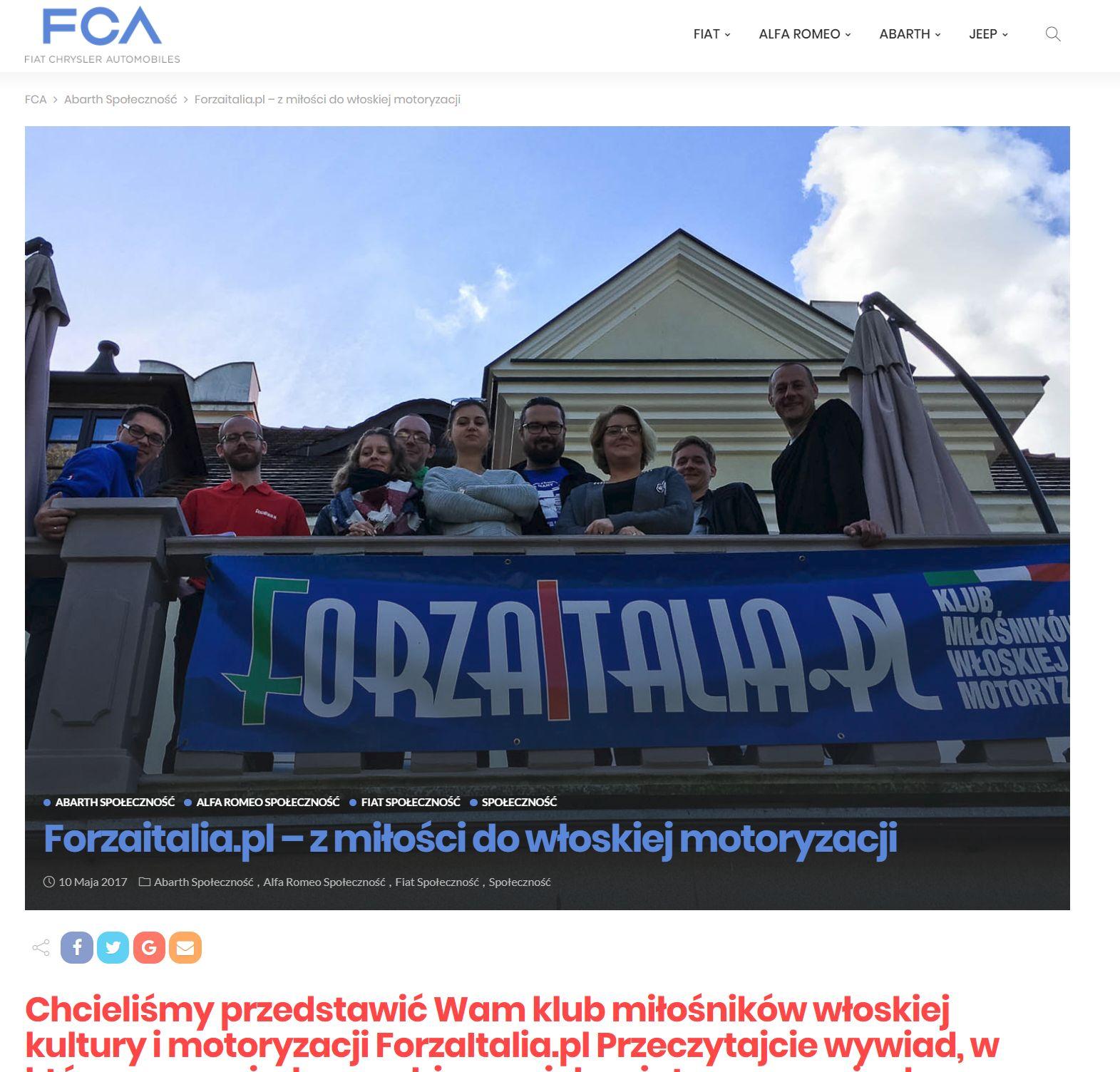 FCA Blog wywiad ForzaItalia.pl