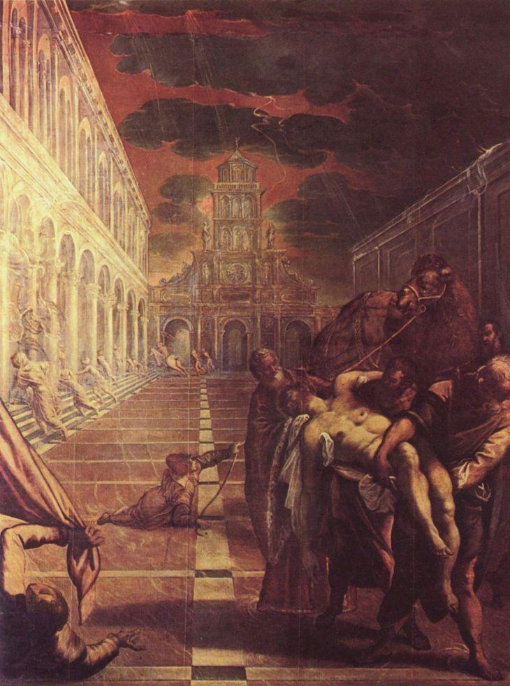 Tintoretto Przeniesienie ciaa w Marka